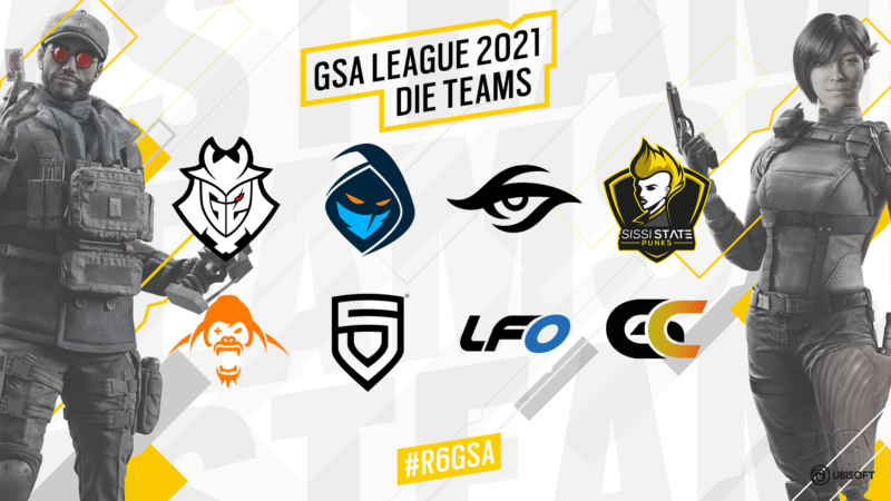 GSA League 2021 Teams Übersicht